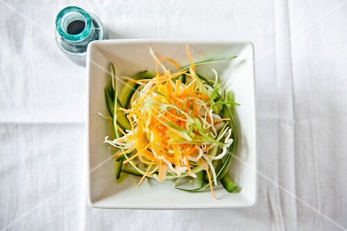 Raw vegetable salad with soy sauce (Japan)