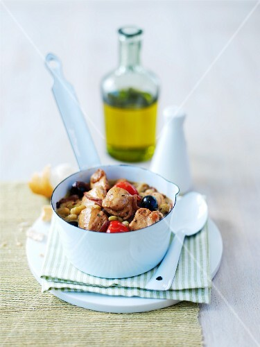 Turkey, olive and tomato stew