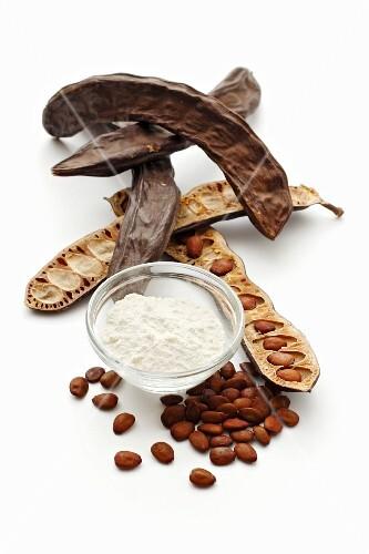 Carob pods, carob seeds and carob flour