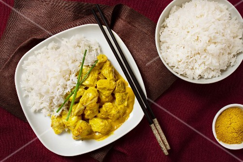 Thai veal curry with scented rice
