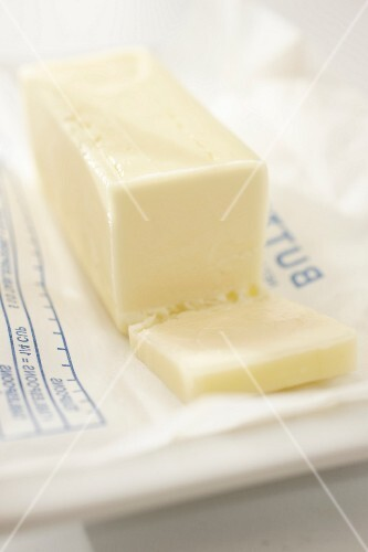 Butter on a wrapper