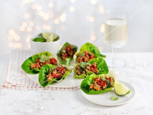 Oriental lettuce wraps for Christmas