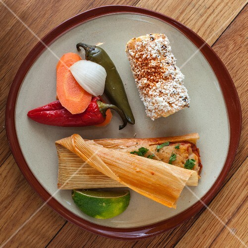 Tamales with chilli peppers (Mexico)