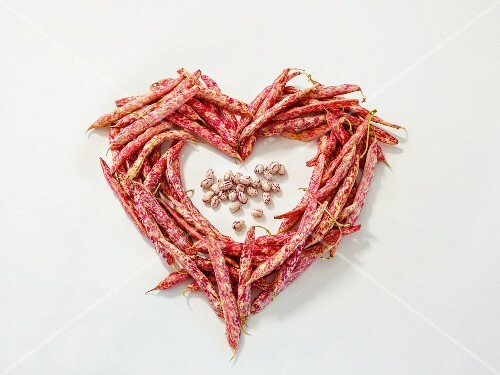 A heart made of borlotti beans