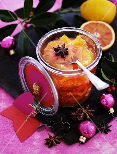 Preserved grapefruit as a Christmas present