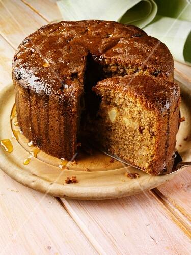 Somerset apple cake, sliced