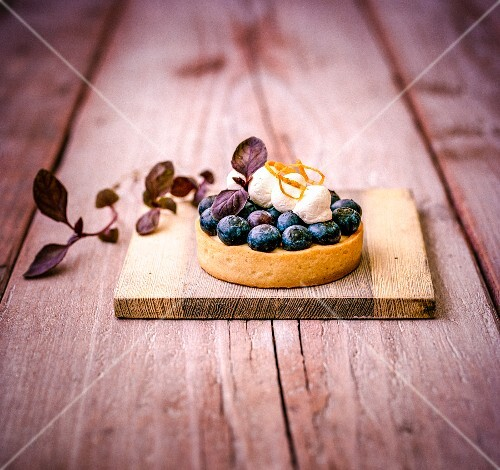 An orange and blueberry tart