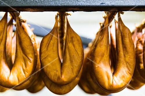 Chorizo hanging up to dry