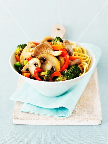 Pasta with mixed vegetables