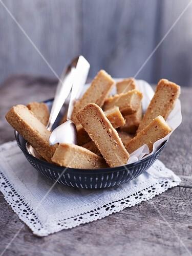 A bowl of shortbread