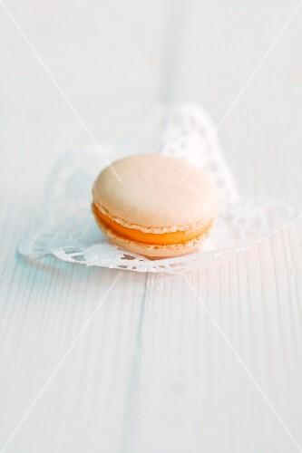 An orange macaroon