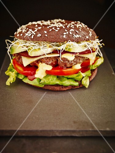 A wholemeal hamburger