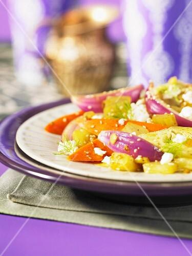 Fennel and potato tagine