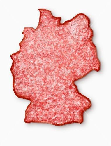 Germany-shaped salami