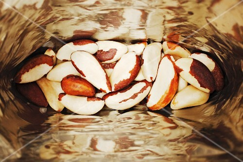 A bag of Brazil nuts (seen from above)