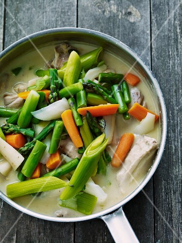 Chicken and mixed vegetable dish