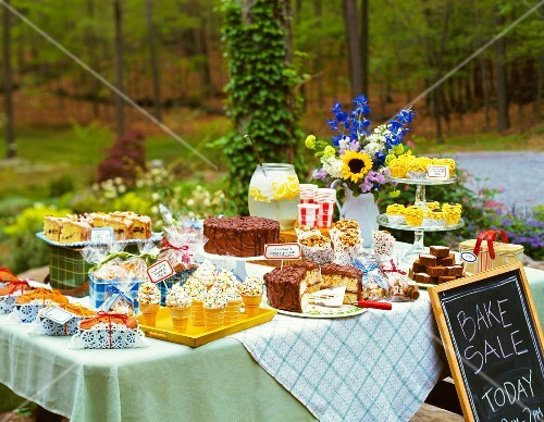 A large outdoor bakesale