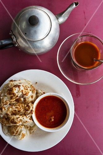 Roti and coffee for breakfast (Thailand)