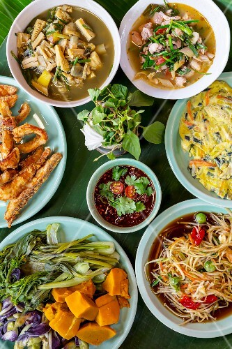 Various dishes, Thailand