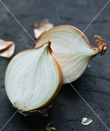 A halved onion
