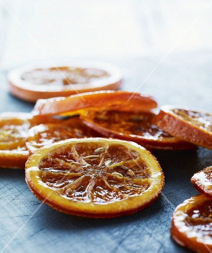 Caramelised orange slices