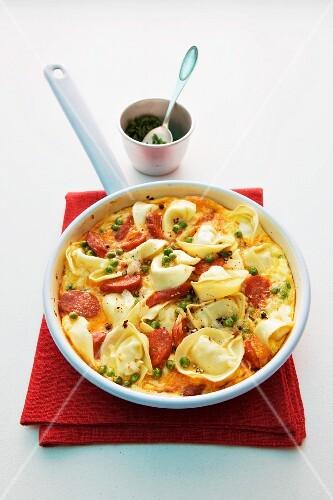 Tortellini tortilla