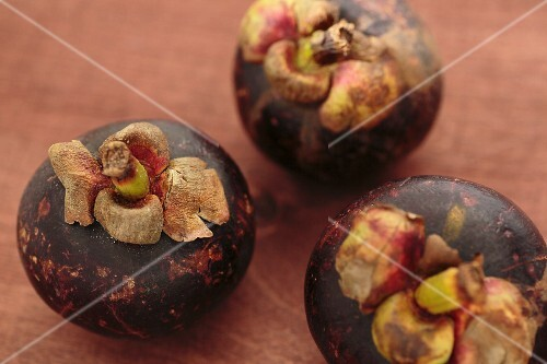 Three mangosteens