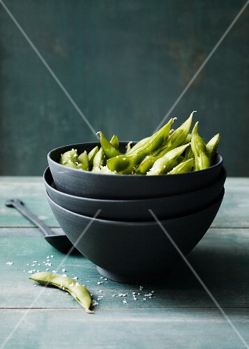 Edamame beans with sea salt
