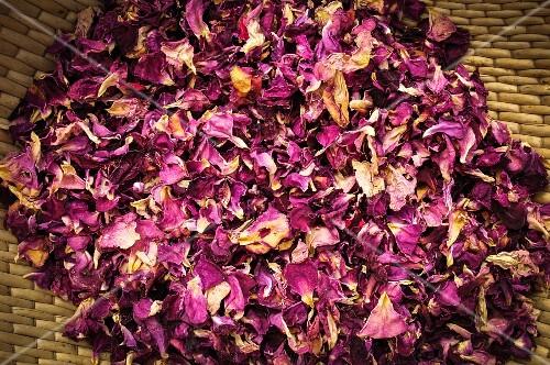 Dried rose petals from Burgenland, Austria