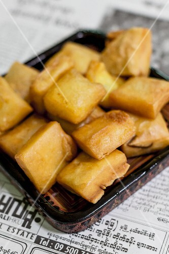 Chickpea tofu from Myanmar
