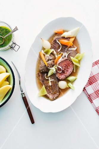 Bollito misto (mixed, cooked meat, Italy)