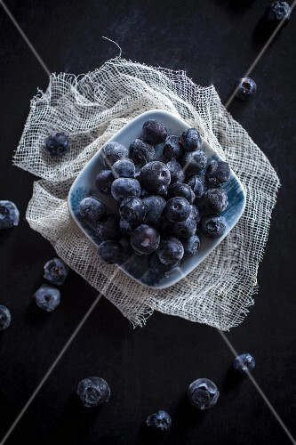 Fresh blueberries (seen from above)