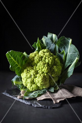 A head of romanesco broccoli