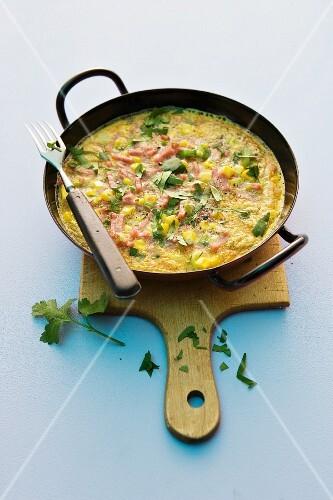 A spring omelette