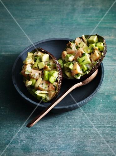 Salmon and avocado tartar