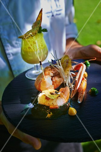 Langoustines with Pernod sauce