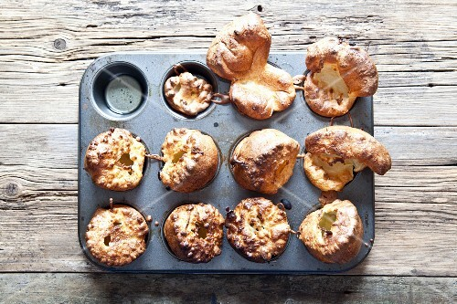 Yorkshire pudding in a muffin tin