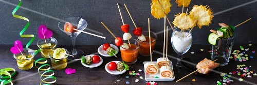 A selection of party food