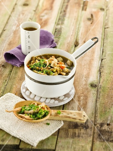 Lentil stew with broccoli