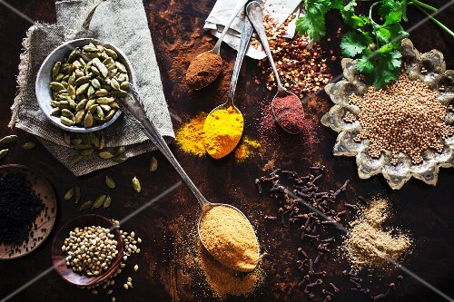An selection of Indian spices