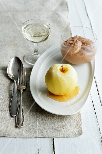 Chocolate and wasabi mousse with apple