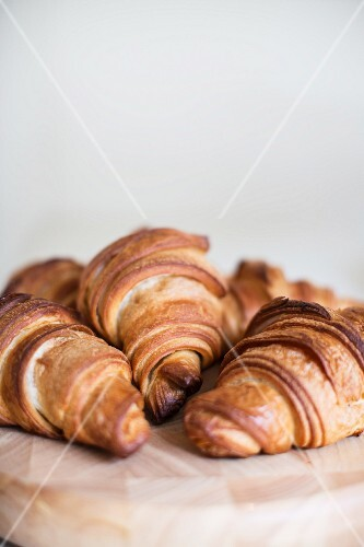 Several croissants