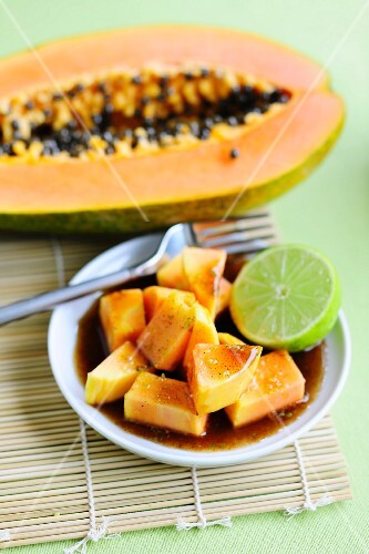 Marinated Papaya