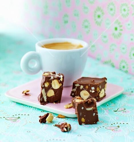 Chocolate and nut bites