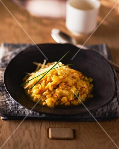 Saffron risotto with crozets