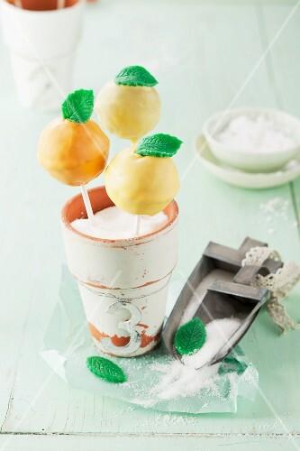 Citrus cake pops