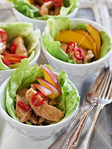 Chicken teriyaki with mango