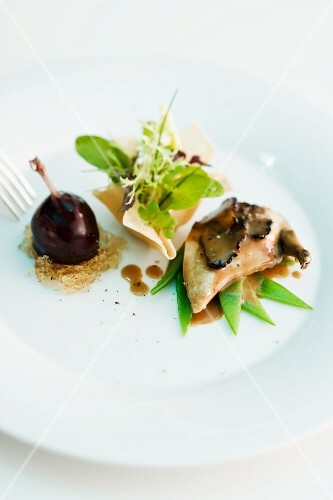 Variations on quail as an appetiser