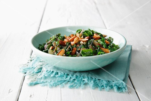 Chard with almonds