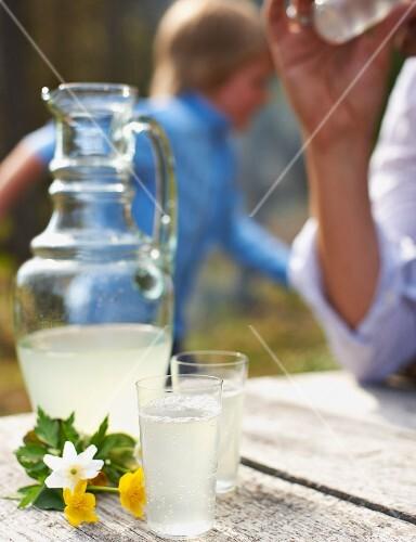 Homemade lemonade for s spring picnic